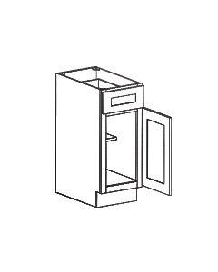 1 Door 1 Drawer Base Cabinet-Shaker White