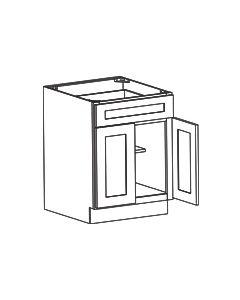 2 Door 1 Drawer Base Cabinet-Shaker White