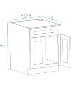Vanities with No Drawers SE-V3021