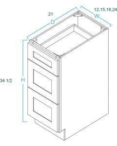 Drawer Base Vanities-Shaker White